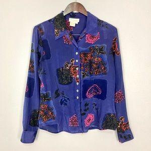 Vintage Victoria's Secret Silk Blouse Button Front